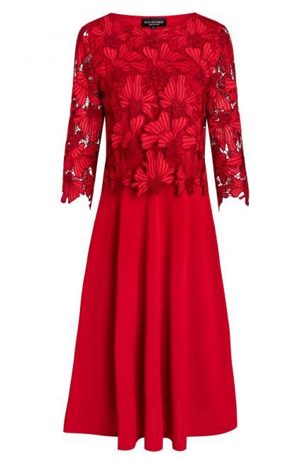 Ana Alcazar Spitzen-Mix Kleid Wapiura