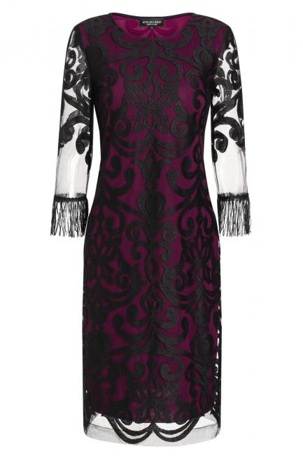 Ana Alcazar Fringe Dress Warase Bourdeaux