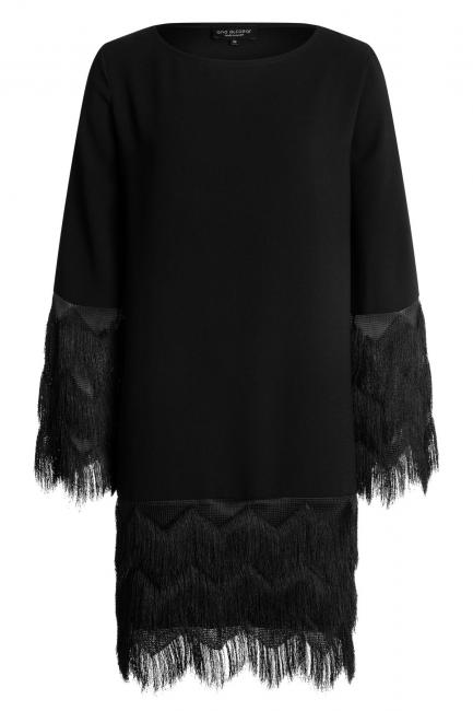 Ana Alcazar Zig-Zag Fringe Dress Watly