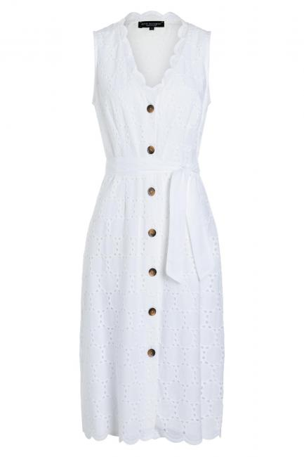 Ana Alcazar Sleeveless Dress Zekyl White