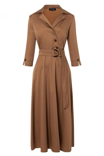 Ana Alcazar Wrap Dress Zepyo Brown