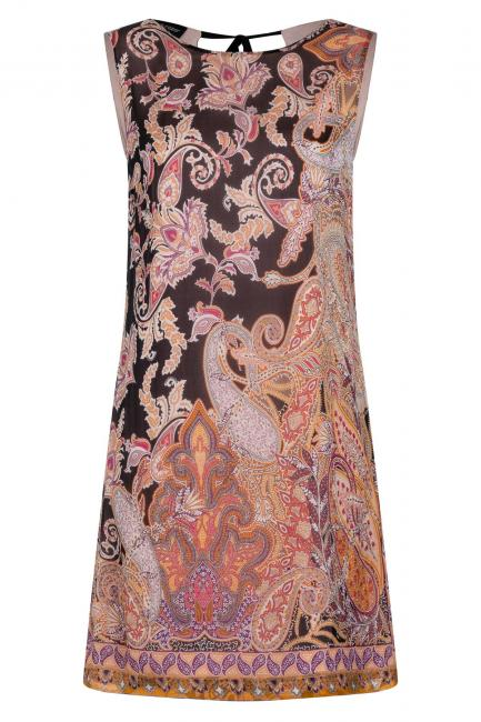 Ana Alcazar Silk Dress Zezie Black