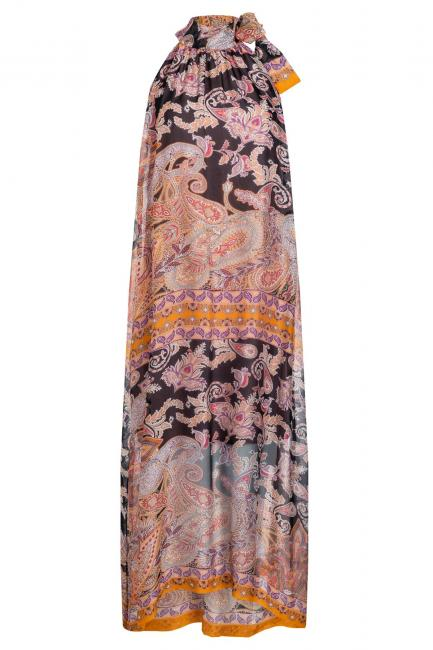 Ana Alcazar Silk Maxi Dress Zezah