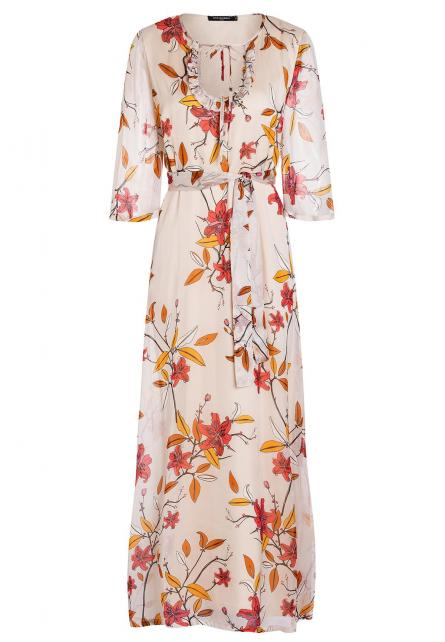 Ana Alcazar Silk Maxi Dress Alby