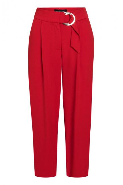 Ana Alcazar Cropped Pants Psara Red