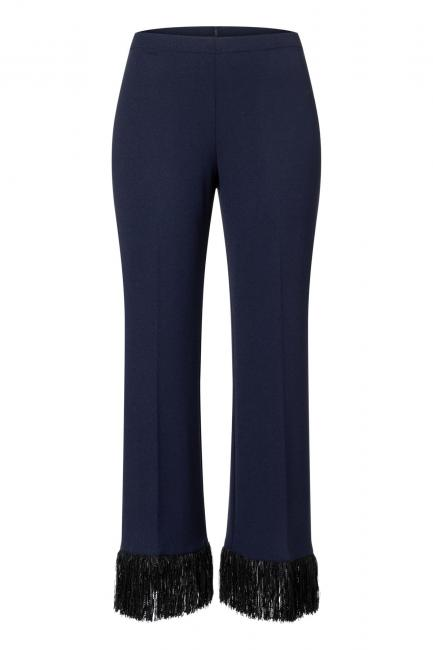 Ana Alcazar Fringe Trousers Wagory Blue