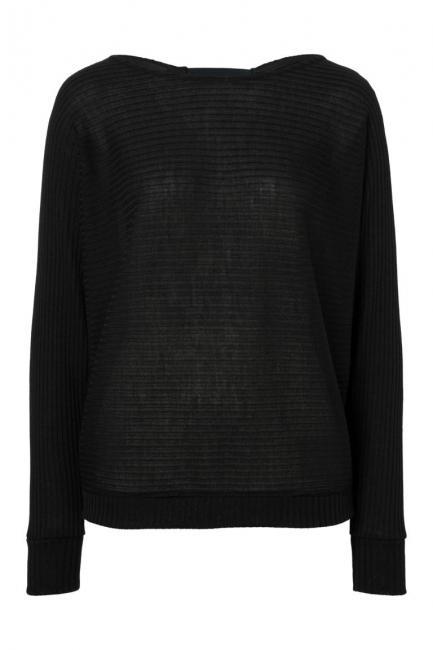 Ana Alcazar Fleermuis Shirt Perera Zwart