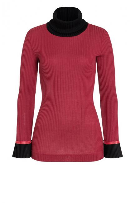 Ana Alcazar Turtleneck Shirt Picabea Red