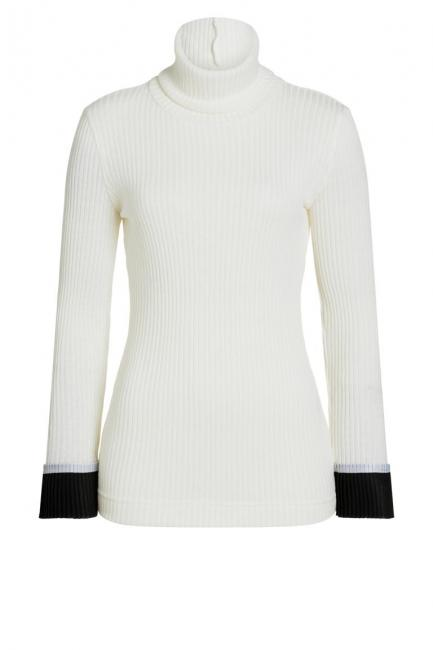 Ana Alcazar Turtleneck Shirt Piaby White