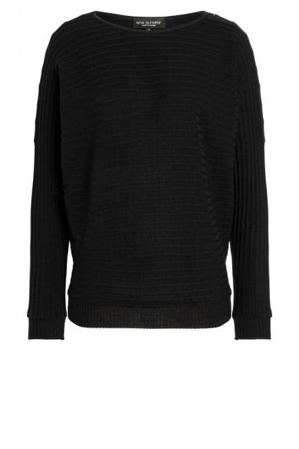 Ana Alcazar Deco Shirt Pomone Zwart