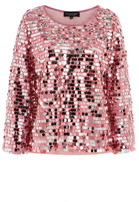 Ana Alcazar Glam Sequin Top Rhety Rose