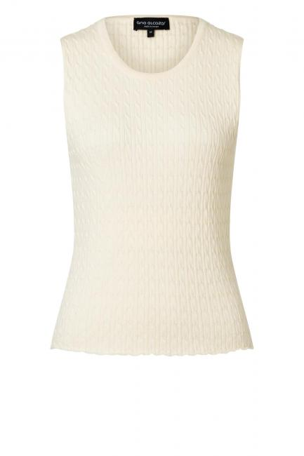Ana Alcazar Knit Top Zyllo White