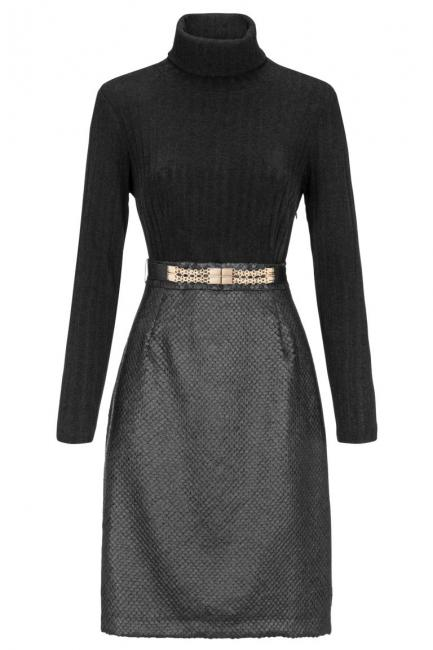 Ana Alcazar Turtleneck Dress Damasky