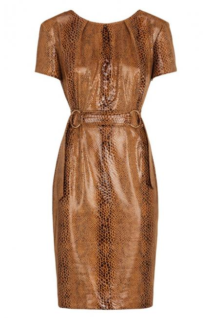 Ana Alcazar Shift Dress Kora Brown