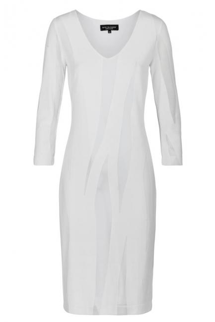 Ana Alcazar Simple Dress White Faley