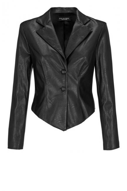 Ana Alcazar Leather Optic Jacket Dostaly