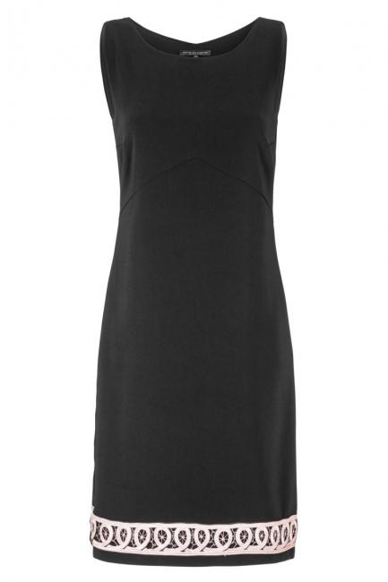 Ana Alcazar Shift Dress Black Faboly