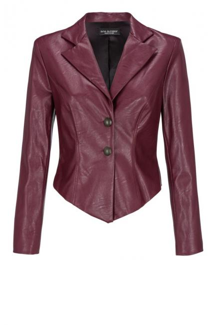 Ana Alcazar Leather Optic Jacket Doraly