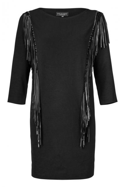ana alcazar Fringes Dress Zomody Dark