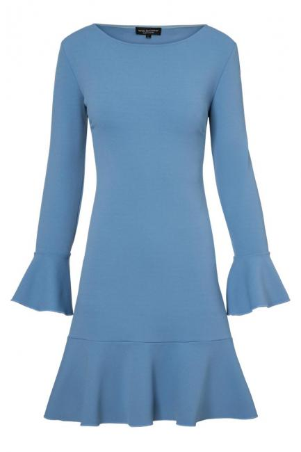 Ana Alcazar Volant Dress Palya Blue