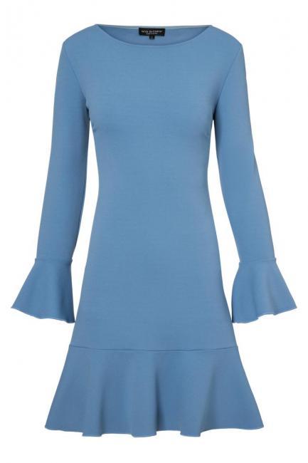 Ana Alcazar Volantkleid Palya Light Blue