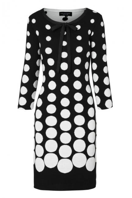 Ana Alcazar Schleifen Kleid Peika Schwarz-Weiß