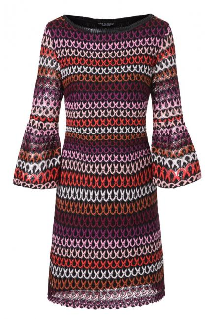 Ana Alcazar Volant Sleeve Dress Plyena Bordeaux