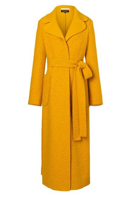 Ana Alcazar Long Coat Vabani Yellow