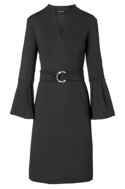 Ana Alcazar Volant Dress Octa Black