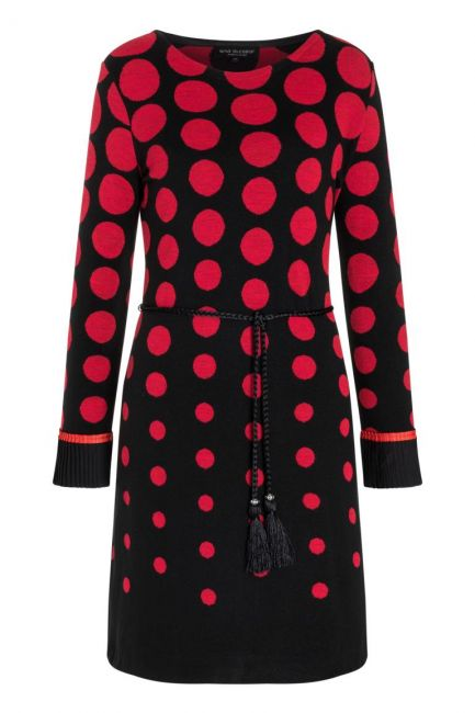 Ana Alcazar Plissee Dress Preya Black-Red