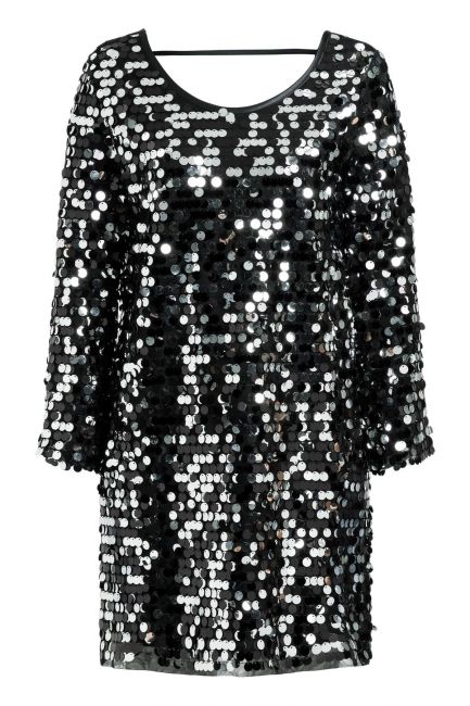 Ana Alcazar Glam Sequin Dress Rhetys Black