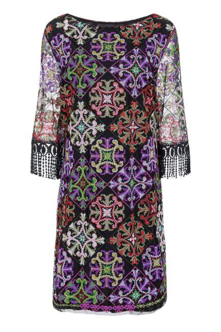Ana Alcazar Fringe Dress Salnome