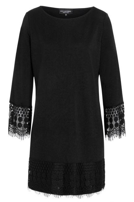 Ana Alcazar Longsleeve Dress Saora Black