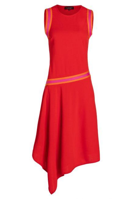 Ana Alcazar Midi Dress Savnea Red