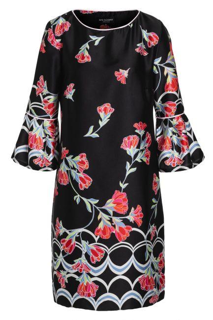 Ana Alcazar Sleeve Dress Sefyme Black