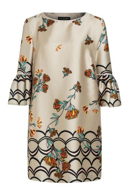 Ana Alcazar Sleeve Dress Sefymea Beige