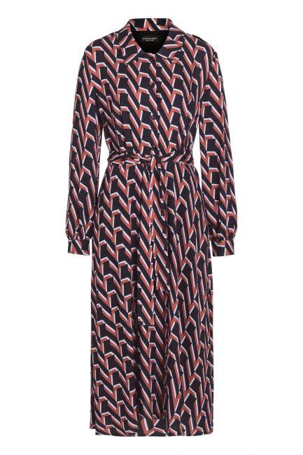 Ana Alcazar Midi Dress Vabunea Brown