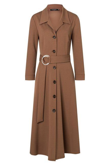 Ana Alcazar Blouse Dress Walisa Brown