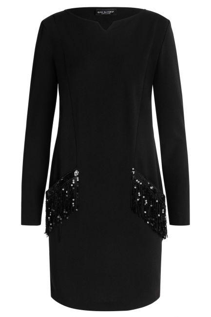Ana Alcazar Pocket Dress Wafra Black