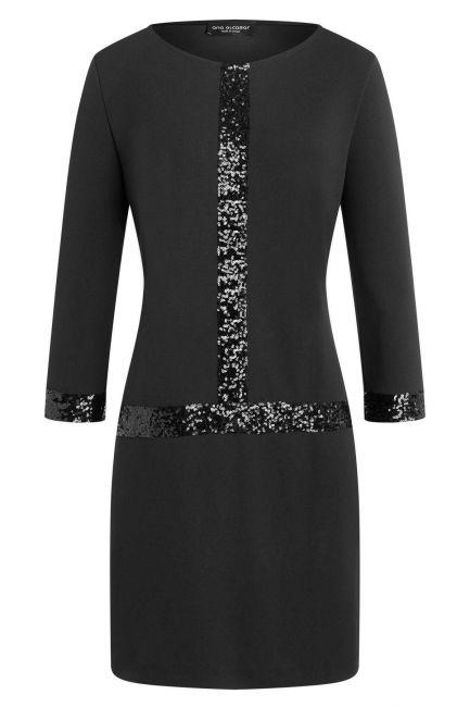 Ana Alcazar Sequin Dress Wajana Black