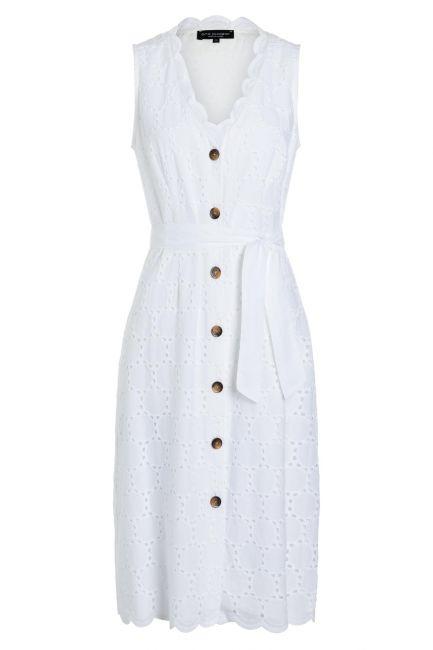 Ana Alcazar Sleeveless Dress Zekyl White
