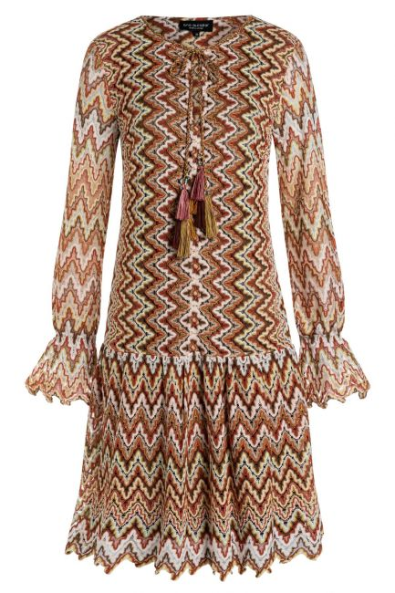 Ana Alcazar Long Sleeve Dress Zalta