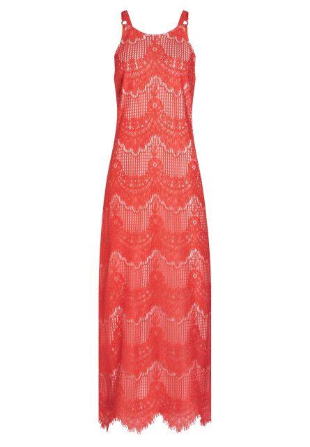 Ana Alcazar Maxi Dress Afrea Red-White
