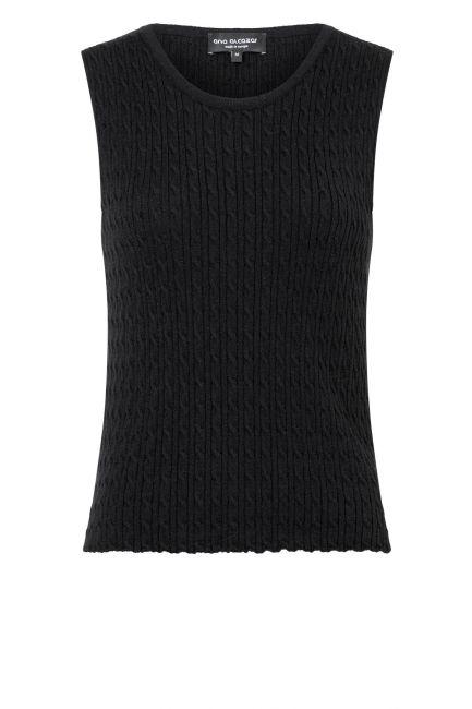 Ana Alcazar Knit Top Zylla Black