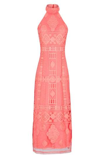 Ana Alcazar Maxi Dress Rose Falicitea
