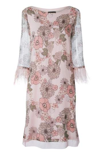 Ana Alcazar Feather Silk Dress Naris