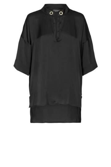 Ana Alcazar Satin Bluse Black Florinsy