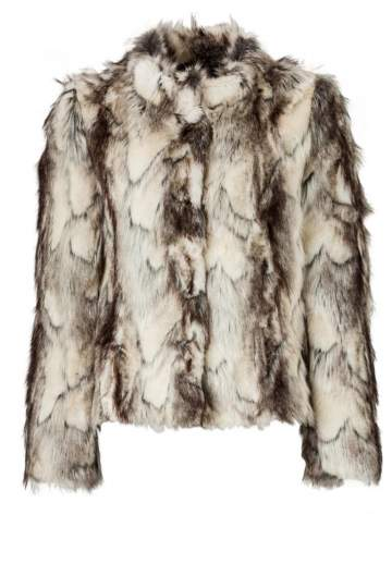 ana alcazar Fake Fur Jacket Zoffy