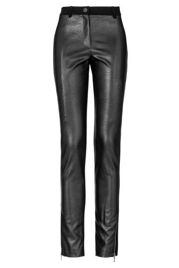 ana alcazar Leather Look Trousers Zexony
