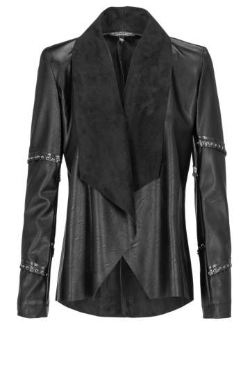 Ana Alcazar Leather Optic Jacket Danella